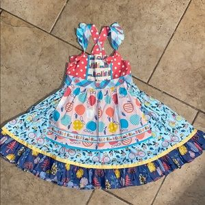 NWT Matilda Jane Bike Path Knot Dress Size 6 Girls